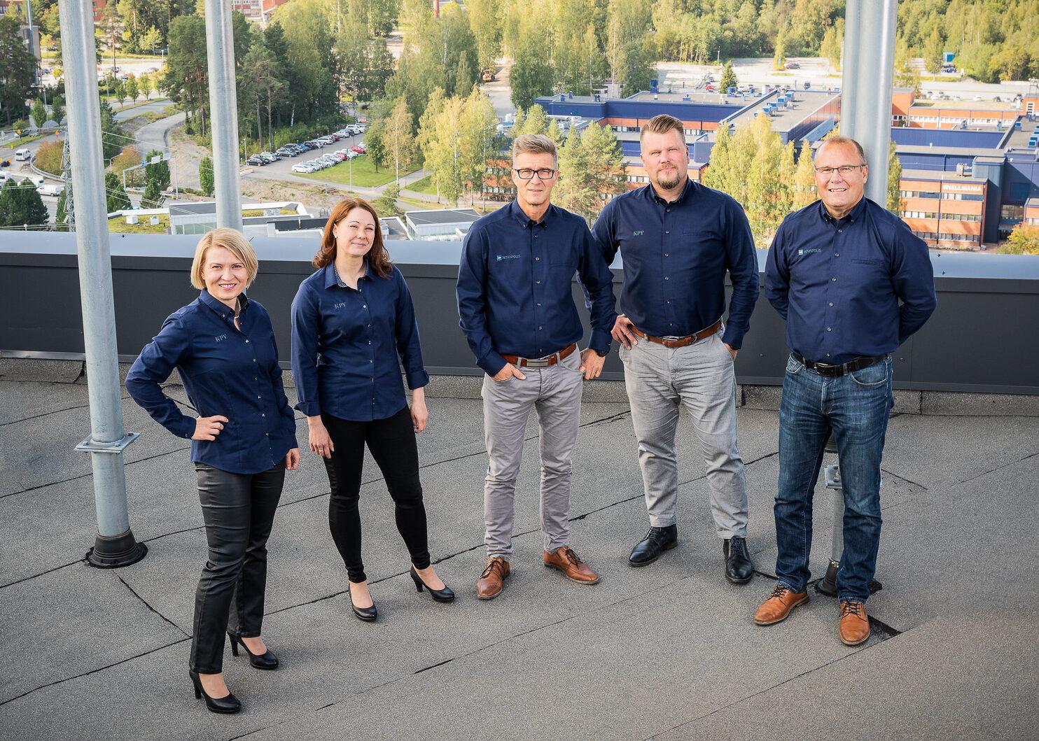 KPY Novapoliksen johtoryhmä.
